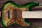 Fred Hammond Signature Bass- Vintage Green burst - Bartolini B-Axis - Pike Audio Blue Box Preamp