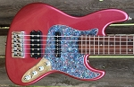Metallic Burgundy  KM5 -Swamp Ash - Maple - Featuring Aguilar Pickups and Bassmods 3 band