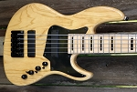 K524  24 fret -K524 Natural Swamp Ash- USA KENT ARMSTRONG HUMBUCKERS WITH COIL TAPS -Bassmods 3 band with mid Control