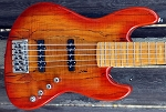 Fred Hammond Signature Bass-Orange Burst  Spalted top - Bartolini B-Axis - Pike Audio Preamp