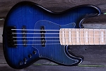 Fred Hammond Signature Bass-Flamed Black Burst - Bartolini B-Axis - Pike Audio  BLUE BOX Preamp   - Black Hardware HARDWARE