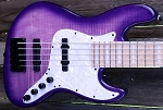 K534  Purple  Burst Flame   --Swamp Ash - your choice of pickups and preamp