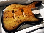 Cali Custom - Quick Custom  - Black Burst Spalt -Premium Swamp Ash - Ebony Fretboard - Optional  Hardware and Electronics- USA  Made