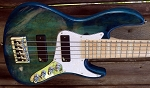 SALE Discounted B STOCK 5 Blue Stain Aguilar DCB with a Bass Mods 3 band.