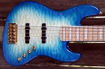K5TS   Quilted Aqua Burst -Swamp Ash - - your choice of pickups and preamp