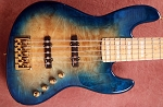 K534  3 Tone Aqua Burl  Burl--Swamp Ash - - This one is loaded with Delano Fe- Optional preamps