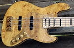 K5TS   Natural Burl-Swamp Ash - - your choice of pickups and preamp