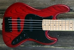Cali K5 Blood Red Stain -Premium  Swamp Ash - Satin Maple neck- Optional Electronics-  Made in the USA