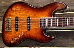 Fred Hammond Signature Bass- Spalted 59 burst - Bartolini B-Axis - -Swamp Ash -Rosewood -Pike-ENIMA Audio Blue Box and Red Box Preamp