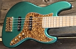 NPS -Nate Phillips Signature 5 string- Metallic Teal -  Maple fretboard - Delano Pickups   JMC FE -Aguilar Preamp