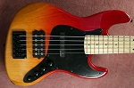 Vertical  Fire Fade  KM5 -Swamp Ash - Maple -Delano Pickups and Bassmods preamp