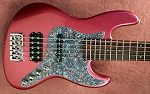 Metallic Burgundy  KM5 -Swamp Ash - Maple - Featuring Aguilar J/MM pickups and Bassmods 3 band
