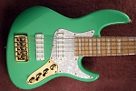 K524  24 fret - Seafoam Greenl-Alder- Optional Preamps- White Delano Time Square pickups-$460.00 set of pickups.