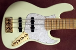 NEW COLOR! Ethan Farmer EF5 Vintage Creme  Signature Bass -  - Bassmods Pre +Bartolini Buffer
