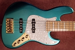 NPS -Nate Phillips Signature 5 string- Metallic Teal -  Maple fretboard - Delano Pickups  -Aguilar Preamp
