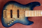 K534  3 Tone Aqua Burl  Burl--Swamp Ash - - your choice of pickups and preamp   HELD DON