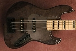 NPS -Nate Phillips Signature 5 string- Black Stain -Burl Top  -  - Delano Pickups  -Aguilar Preamp