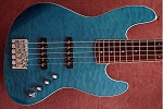 SWEET DEAL! Quilted  Aqua Swamp Ash- Rosewood- Bartolini B-Axis with Bassmods 3 band with 3 position switch