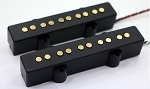 REJ 5 String Pickups- Rare Earth Charged Gold Plated Poles- Rare Earth Charged Magnets- Neodymium