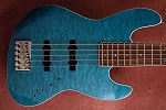 K534 Quilted Blue  --Swamp Ash- Upgraded Bridge your choice of pickups and preamp