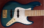 K534 Aqua Stain   --Swamp Ash - Upgraded Bridge Versio- your choice of pickups and preamp