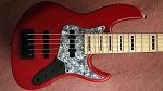 K524  Matte Red stain -Swamp Ash -   your choice of pickups and preamp
