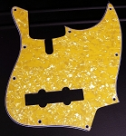 Yellow Pearloid Pickguard  - Available in 4 or 5 - Same as Sire size-