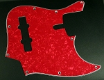 Red Pearloid Pickguard  - Available in 4 or 5 - Same as Sire size-