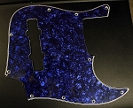 Dark Blue Pearloid Pickguard  - Available in 4 or 5 - Same as Sire size-