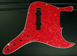 Red  Pearloid  Pickguard  and Control Plate (SET) Fits Bassmods K534 2016 to current