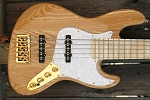 Maurice Fitzgerald Signature MF5 Natural with Bass Mods Preamp and Bassmods REJ Pickups - 70's Pickup Spacing