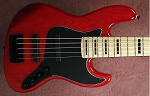 K534 Red Stain--Swamp Ash -  your choice of pickups and preamp