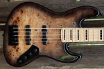 K534  Black to Burl--Swamp Ash - - your choice of pickups and preamp