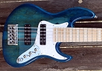 K524  24 fret -Sapphire Spalt- Swamp Ash- Delano Time Square Pickups- Optional Preamps-