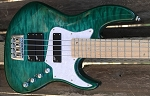 Custom K424 Quilted Teal -   x3 Aguilar DCB Pickups + Bassmods 3 band preamp