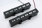 Bassmods Chrome REJ 6 String Pickups- Rare Earth Charged Poles- Rare Earth Charged Magnets- Neodymium