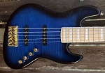 Fred Hammond Signature Bass-Flamed Black Burst - Bartolini B-Axis - Pike Audio Preamp   - Gold HARDWARE