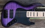 Purple Flame  KM5 -Swamp Ash - Maple -Delano Quad coil Bridge-   Upgraded with Bassmods 3 band with 3 position mid control
