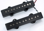 Black Chrome REJ5 5 String Pickups- Rare Earth Charged Magnets- Neodymium