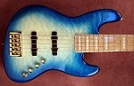 K534  3 Tone Aqua Burl  Quilt -Swamp Ash - - your choice of pickups and preamp