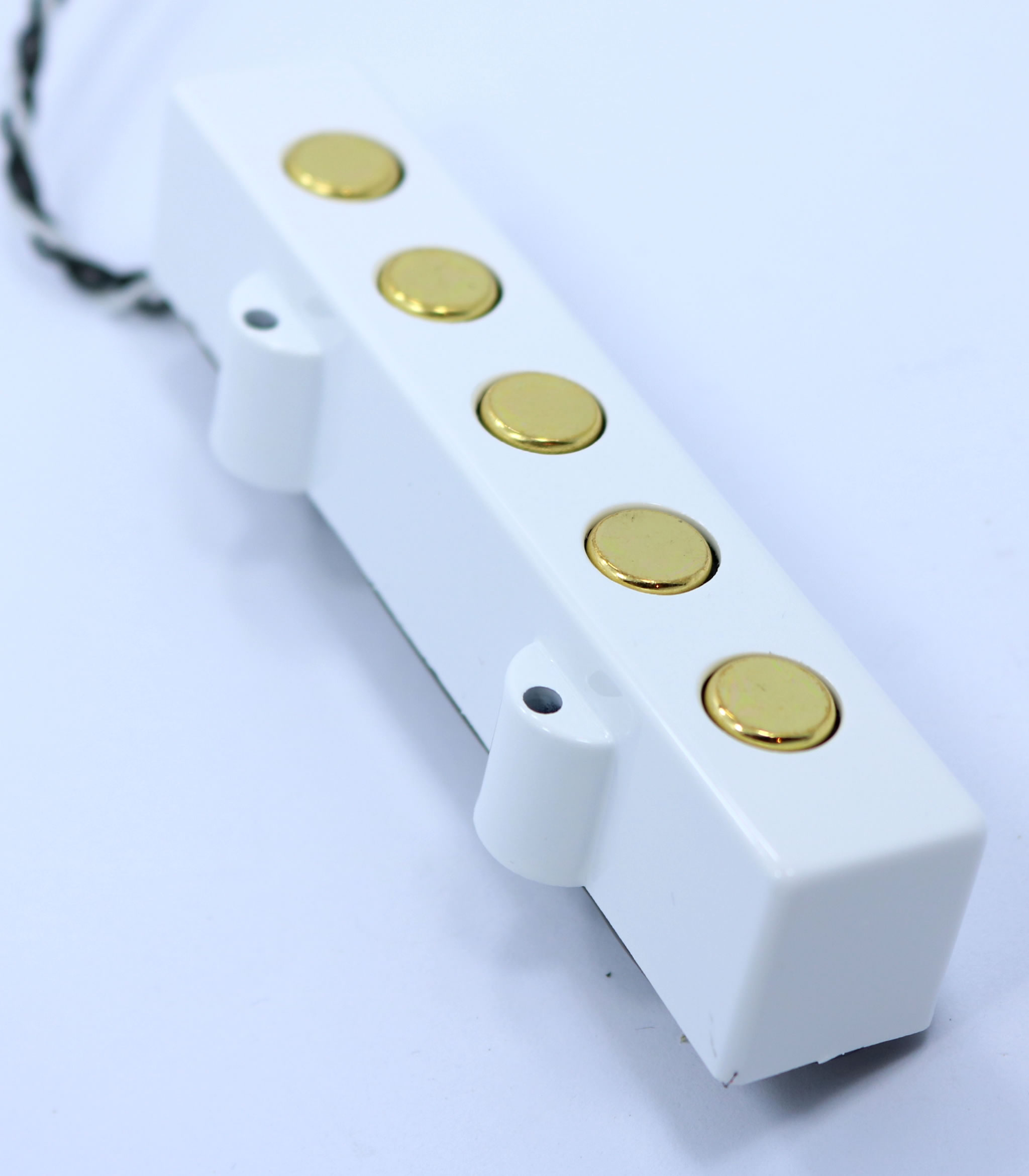New from our custom shop Artic White BIG PHATTY  5 String Pickups- Ceramic Magnet-  Availavle in Chrome Or Gold- THIS IS FOR A SET