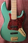 K4VH Metallic Teal- Aguilar- Bass Mods 3 Band -Plek''d -custom preamp
