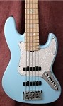 Discounted K535 -Baby Blue- 3 Band preamp-Plek'd-Bartolini Humcancelling Pickups- Swamp Ash (