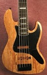 "K534"" Spalted-Rosewood  Custom You Pick your the pickups and preamp and we will build it."