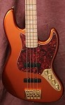 K4VH Candy Apple Orange- Bartolini Pickups- Bass Mods 3 Band -Plek''d