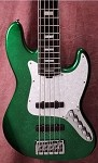 "K5 35""Green Sparkle- Bartolini pickups- Bass Mods  3 band Preamp"