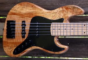 BMJ5- Natural Spalt- Bartolini B-Axis and Bassmods MC3- Maple Neck