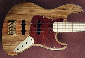 "K434"" Swamp Ash Spalted top- gold hardware - Pick your the pickups and preamp and we will build it."