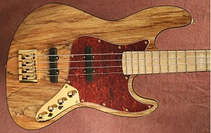 "K434"" Spalted maple top- gold hardware - Bartolini Brite tone pickups- upgraded preamp  Bassmods MC34AP"