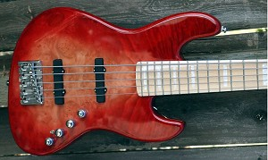K534  Rear load 3 tone Red--Swamp Ash - - your choice of pickups and preamp
